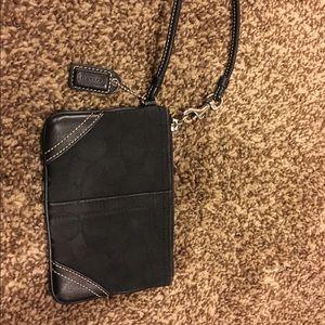 Authentic Black Coach Wristlet
