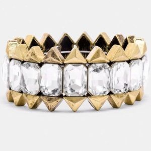 Baublebar Triad Gem Stretchable Bracelet NWT