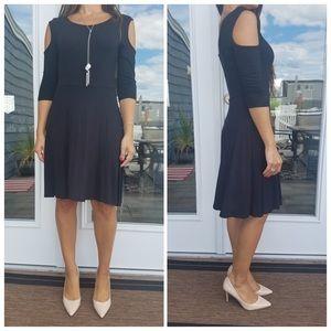 CupofTea Dresses & Skirts - Black cold shoulder dress