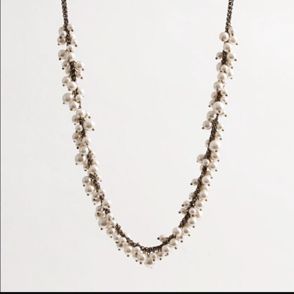 J. Crew Jewelry - J. Crew pearl cluster necklace