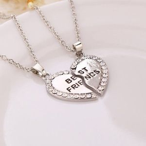 """Cute Jewelry - BFF Friendship Necklaces (2) New Silver 18"""""""