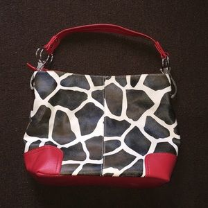 Handbags - Red Giraffe purse