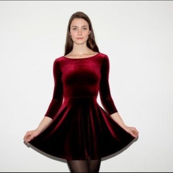 244566e8ff American Apparel Dresses & Skirts - American Apparel Velvet Skater Dress  NWOT