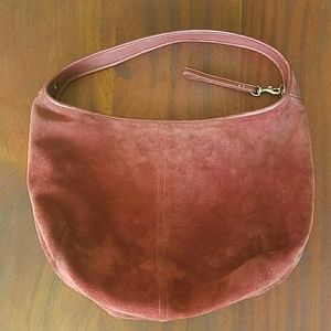 Coach Handbags - Coach Maroon Suede Hobo Bag