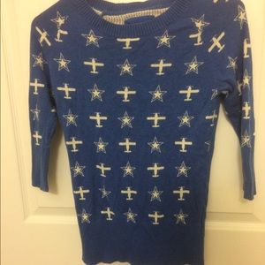 Forever 21 Sweaters Blue Stars And Planes Coraline Sweater Poshmark