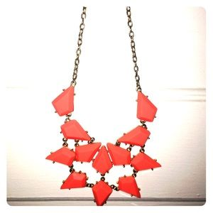 Orange Triangle Statement Necklace