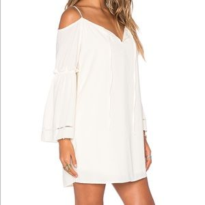 VAVA By Joy Han off white cut out shoulder dress