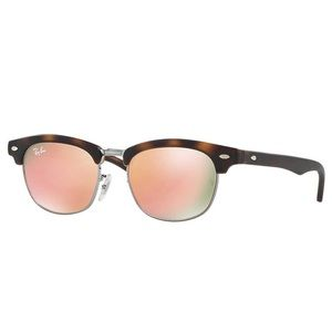 NEW Ray-Ban Kids Clubmaster Sunglasses Tort/Copper