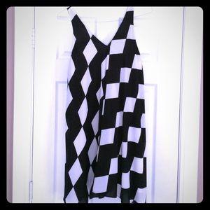 NWOT Sam Edelman Black & White Dress Medium