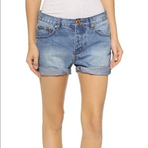 One Teaspoon Chargers Shorts in Vintage Blue