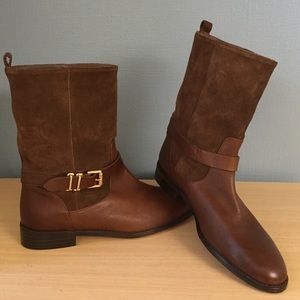 Massimo Dutti Shoes - NWT Flat Mid Calf Boot by Massimo Dutti