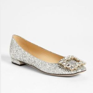 Kate spade Norella Glitter Patent Leather flats