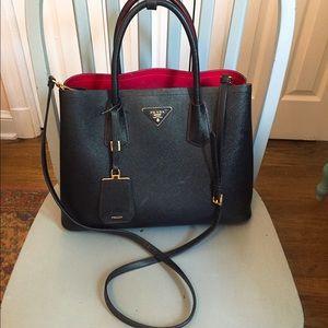 ... new style prada bags pradau2022u2022saffiano cuir double bag 45f89 afe24 6726fd63c3936