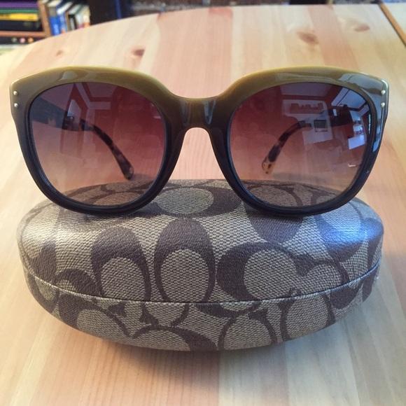 6c0e79f5f096 Coach Accessories | Hc8047 Casey Yellow Gradient Sunglasses | Poshmark