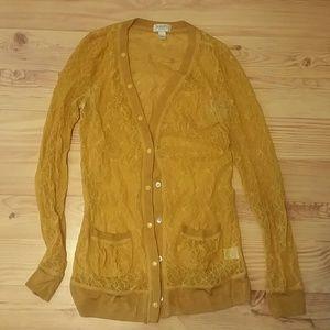 Rodarte Sweaters - Rodarte for Target yellow lace cardigan.