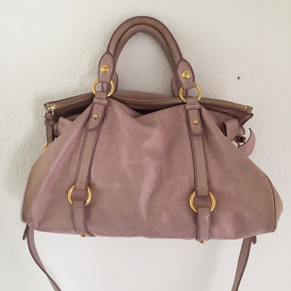 d97a62a750b5 Miu miu vitello lux bow fold over satchel bag. M 57ab79d2f739bc5124000658