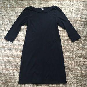 3/4 Sleeve Black Dress