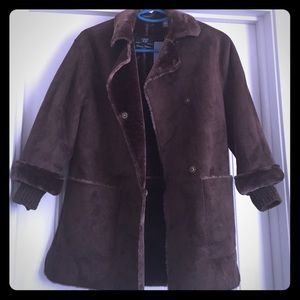 Zara Girls Faux Suede/Fur Coat