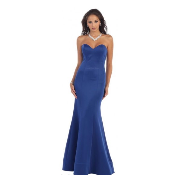 d8d2f318c28 Sexy strapless May Queen long gown