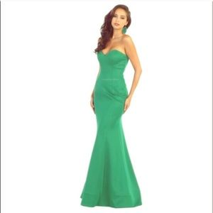 Sexy strapless May Queen long gown