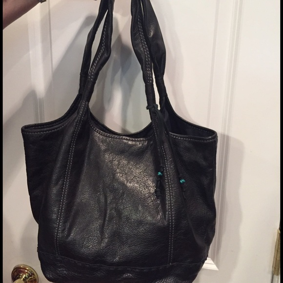 65% off The Sak Handbags - Sak soft black leather purse bag tote ...