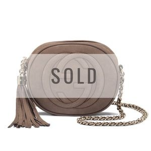 Gucci Handbags - SOLD // Gucci Suede Mini Crossbody