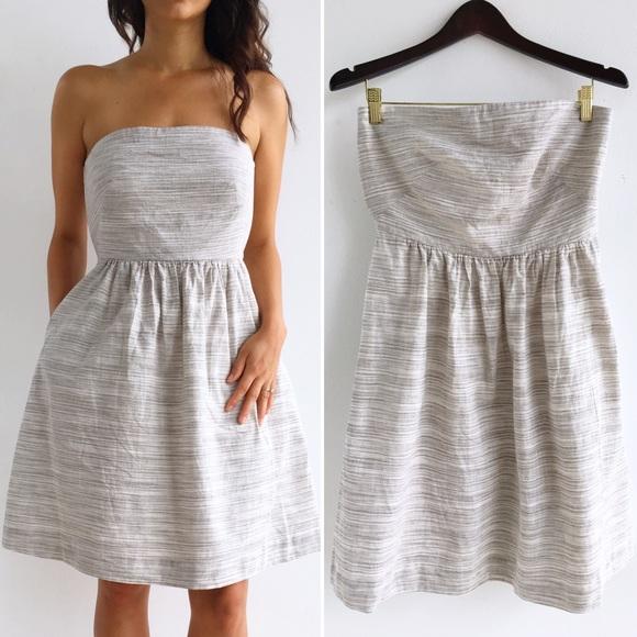 31f657c539 Banana Republic Dresses   Skirts - Banana Republic Strapless Linen Dress