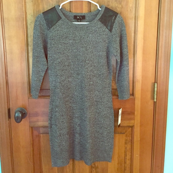 c634ccc704d BCX Sweater Dress with Quarter Length Sleeves!