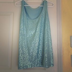 Sequin Fitted Tank Top