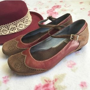 Clarks Shoes - Leather Mary Jane Shoes Fall Ox Blood Burgundy