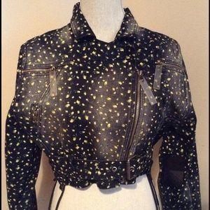 L.A.M.B. Jackets & Blazers - L.A.M.B. denim moto jacket (biker style)