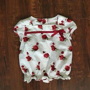 🎈Janie & Jack rose blouse 🎈
