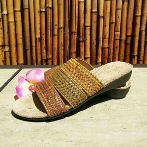 Sbicca Shoes - SBICCA  Tri Color Straw Sandals!