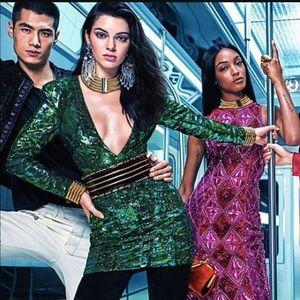 Balmain Dresses - Balmain x H&M Exclusive Green Dress NWT