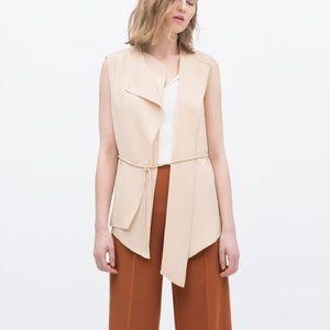 Zara Jackets & Blazers - NWOT Zara Tie Vest