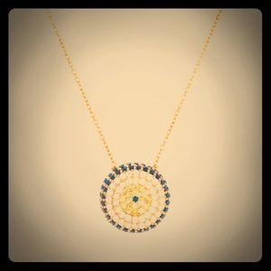 Jewelry - Pave CZ Evil Eye Pendant Necklace
