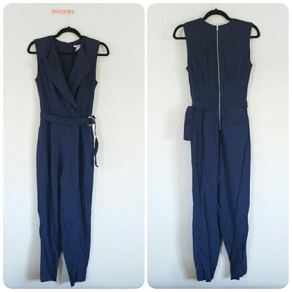 0423022dc2f H M navy blue jumpsuit onesie