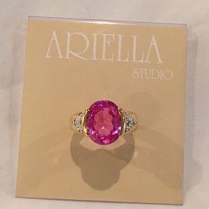 Ariella Jewelry - Large Pink Gem Costume Ring (6) *NEW*