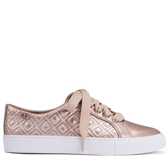 32d159d49c6 Marion Quilted Sneakers in Rose Gold