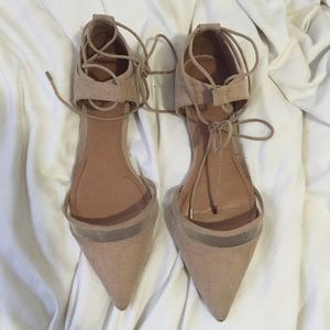 Zara Shoes - Zara Tan Flats