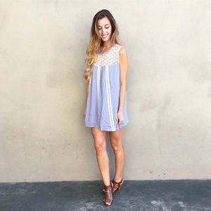 | new | blue baby doll dress