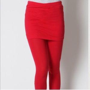 Red Mini Skirt Skirted Leggings