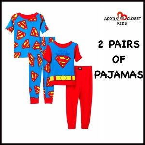 AME Sleepwear Other - ❗️1-HOUR SALE❗️2 Pairs of SUPERMAN PJ SETS 2T Boy