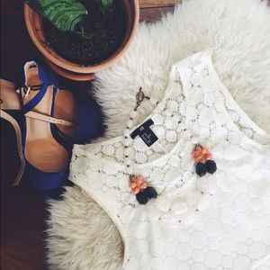 🎈2xHP🎈H&M White Floral Lace Dress