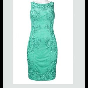 Sue Wong Dresses & Skirts - Jade Sleeveless Lace Embroidered Sheath Dress