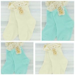 ICON Other - Toddler Lace Trim Ankle & Knee high Socks