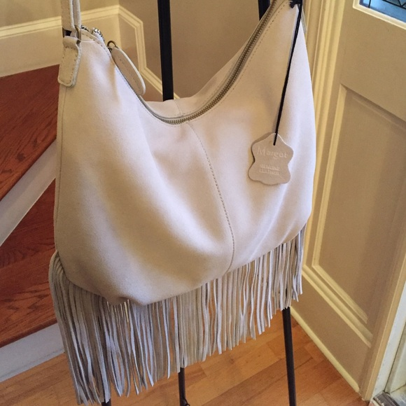 89% off Margot Handbags - New Leather Fringe Cross body bag from ...