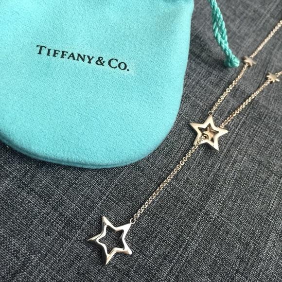 524cfe6c1e3ac TIFFANY & CO Silver Star Lariat Necklace