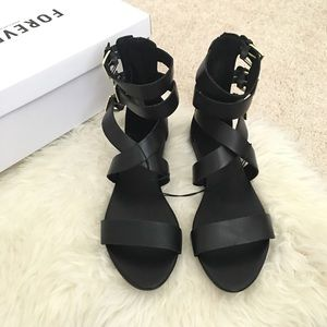 Forever 21 Shoes - Strappy Sandals Black