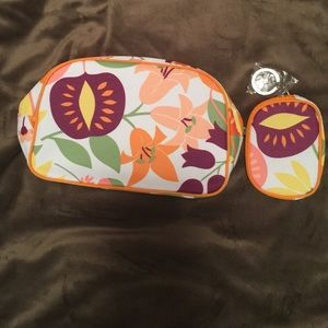 Clinique Accessories - Clinique make up bag and key chain purse